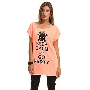 Happiness is a $10 Tee Kuru Kafa Baskılı Turuncu Tişört