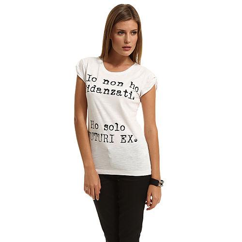 Happiness is a $10 Tee Yazılı Beyaz Tişört