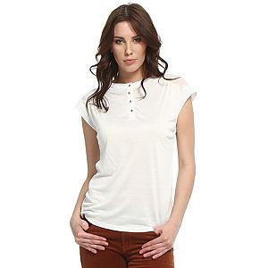 Koton Düğmeli Beyaz Tişört