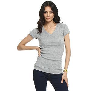 Koton V Yaka Gri Tişört