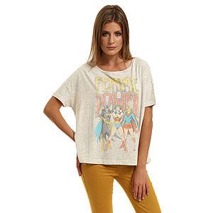 Only Feminine Power Baskılı Gri Tişört