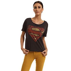 Only Superman Baskılı Füme Tişört