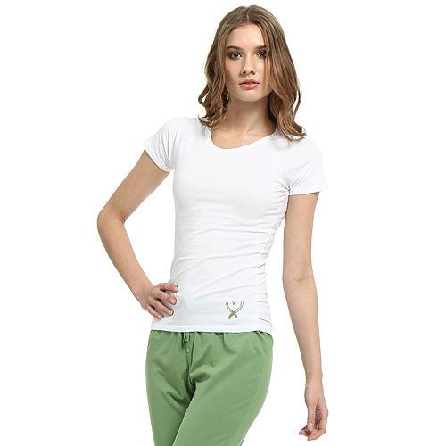 Shakespeare in Love Yeşil Kalpli Beyaz Tişört