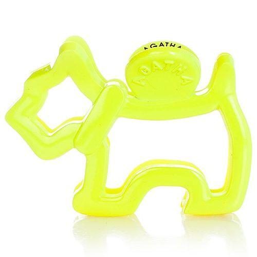 AGATHA Paris    Neon Sarı Logolu Toka