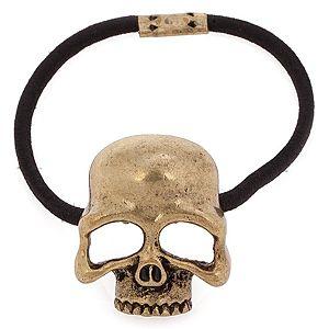 MiaRossa    Mat Altın Rengi Skull Toka