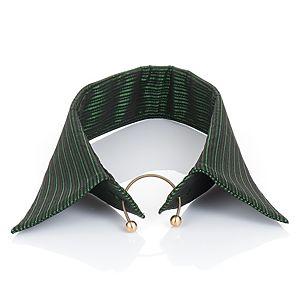 Begart    Yeşil Siyah Çizgili Yaka