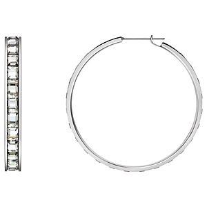 Calvin Klein    Glint Beyaz Kristal Taşlı Küpe