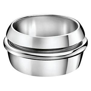 Calvin Klein    Gümüş Renk Ortası Çizgili Yüzük