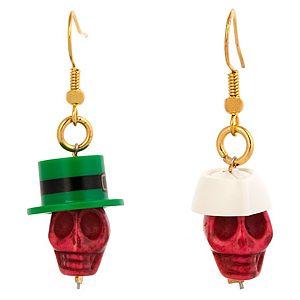 Derya's Winter Shop    Yeşil ve Beyaz Şapkalı Kuru Kafa Küpe