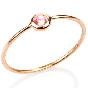 Elif Doğan Jewelry    Açık Pembe Tekli Bubble Yüzük