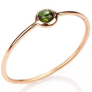 Elif Doğan Jewelry    Koyu Yeşil Tekli Bubble Yüzük