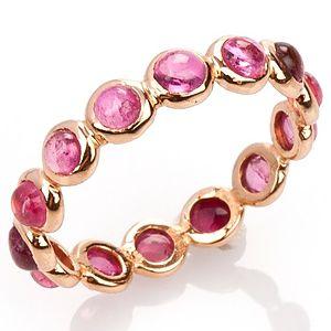 Elif Doğan Jewelry    Pembe Tam Tur Bubble Yüzük