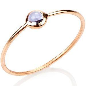 Elif Doğan Jewelry    Safir Rengi Tekli Bubble Yüzük
