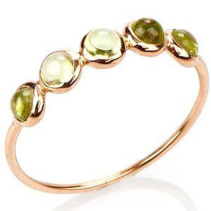 Elif Doğan Jewelry    Yeşil Beşli Bubble Yüzük