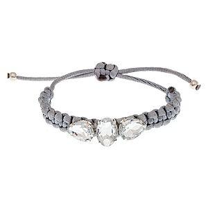 Love Without a Cause by Ahu Ateşel    Gri Chic Diamonds Bileklik