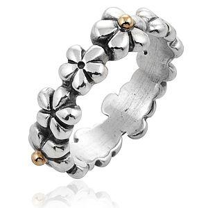 Pandora    Çiçekli Gümüş Yüzük