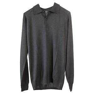Silk & Cashmere    Antrasit Rengi  Polo Yaka Kazak