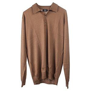 Silk & Cashmere    Bronz Renk Polo Yaka Kazak