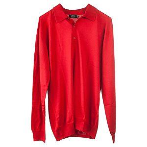 Silk & Cashmere    Kırmızı Polo Yaka Kazak
