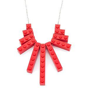 Derya's Winter Shop    Kırmızı Lego Kolye