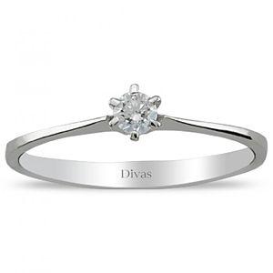 Divas Diamond    0,10 ct Pırlanta Tektaş Yüzük