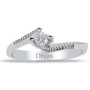 Divas Diamond    0,20 ct Pırlanta Tektaş Beyaz Altın Yüzük