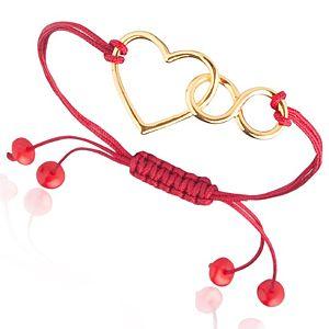 Lin Jewelry    Kalp ve Sonsuzluk Makrome Bileklik
