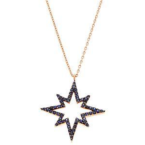 Takika Diamond    Safir Kutup Yıldızı Kolye