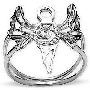 ARİŞ PIRLANTA    Pırlanta Gümüş Huzur Meleği Azrail Yüzük