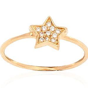 Biella    Altın Kaplama Yıldız Yüzük