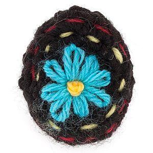 Deryada    Mavi Çiçekli Örgü Yüzük