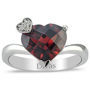 Divas Diamond    0,02 ct Pırlanta Garnet Yüzük