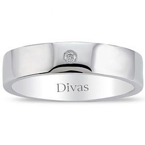 Divas Diamond    0,02 ct Pırlanta Gümüş Yüzük