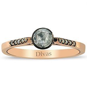 Divas Diamond    0,05 ct Elmas Altın Yüzük