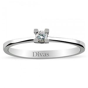 Divas Diamond    0,06 ct Pırlanta Gümüş Yüzük