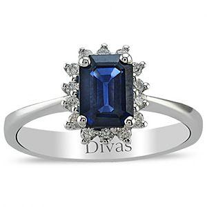 Divas Diamond    0,16 ct Pırlanta Safir Yüzük