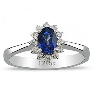 Divas Diamond    0,50 ct Pırlanta Safir Yüzük