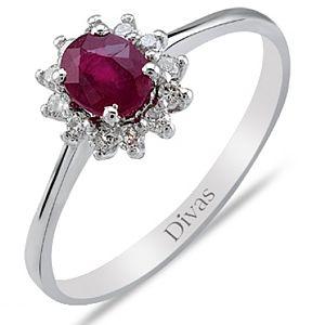 Divas Diamond    Pırlanta Yakut Yüzük