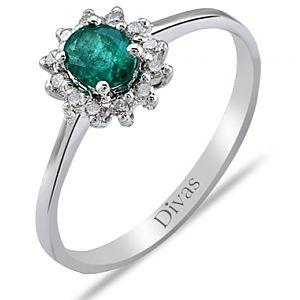 Divas Diamond    Pırlanta Zümrüt Yüzük