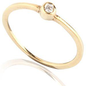 Lin Jewelry    Minik Tek Taşlı Yüzük