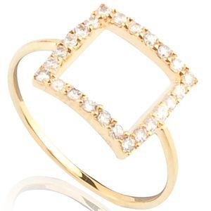 Lin Jewelry    Taşlı Kare Yüzük