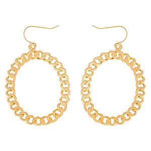 Lin Jewelry    Zincirli Halka Küpe