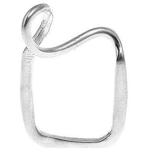 Zeckie by Zekiye Koçarslan    Gümüş Kaplama Kare Spiral Yüzük