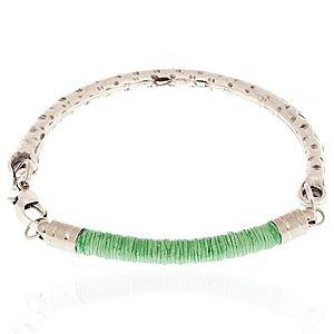 acquamodo    Yeşil ve Gümüş Renkli Bileklik
