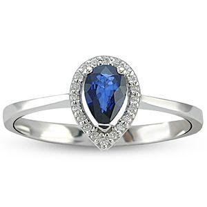 Blue Diamond    0.40 ct Safir Yüzük