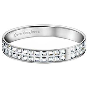 Calvin Klein    Çift Sıralı Beyaz Kristal Taşlı Bilezik