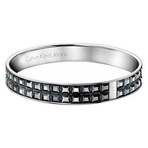 Calvin Klein    Çift Sıralı Siyah Kristal Bilezik