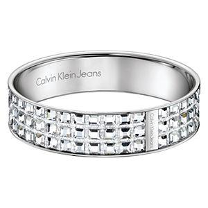 Calvin Klein    Üç Sıralı Beyaz Kristal Taşlı Bilezik