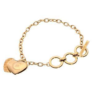 Cerruti    Altın Kaplama Logolu Kalp Sallantılı Bileklik