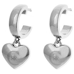Cerruti    Logolu Kalp Sallantılı Küpe